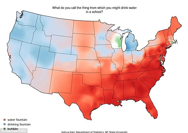 dialect-map-water-fountain Pronunciation Of Word Maps on map of the english language, map of writing, map of texas trees, map of fce, map of slang, map of speech, map of eastern france, map of spanish speakers,